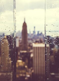 """Can you picture how drop dead gorgeous this city is in the rain?""-Woody Allen"
