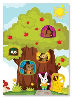 Treehouse Friends Cardboard Jigsaw - 30 Pieces | Jigsaw Puzzles | Melissa and Doug