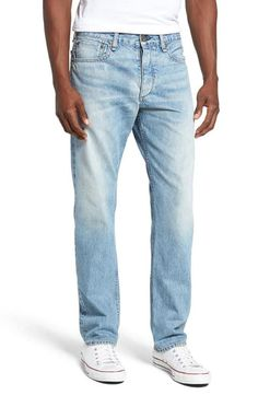 Mens New Lee Brooklyn Stretch Denim Jeans Regular Fit Basic Straight Leg 30-44