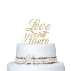 Generic Love You More Cake Topper  Wedding Decor with Wood Cake Topper cake decorations * Read more at the image link.