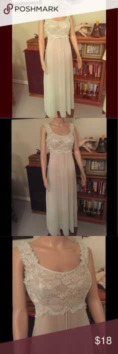 Vintage Vanity Fair Pastel Green Boudoir Gown Vintage Vanity Fair Pastel Green Lace Top Boudoir Gown. Soft and Feminine. Perfect for Summer Evenings. Sz 34-S Somewhat sheer. Authentic Original Vintage Style Intimates & Sleepwear