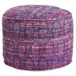 Repurposed Fabric Pouf - Purple