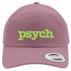 PSYCH Embroidered Cotton Twill Hat