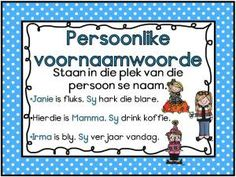 Afrikaans Woordsoorte Muurkaarte vir jou klas. Gratis; mag nie verkoop word nie. Afrikaans Language, 1st Grade Worksheets, School Posters, School Subjects, School Readiness, Study Notes, Home Schooling, School Fun, Kids Education