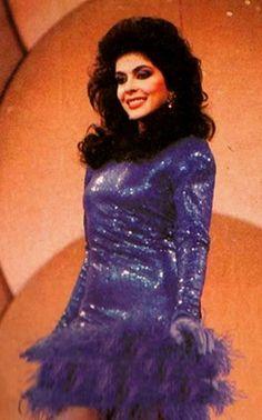 Yajaira Vera, la Fuerte Candidata a coronarse como Mis Venezuela 1988, by Antoni Azocar..