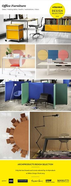 #Office Furniture Design Selection: desks, meeting tables, booths, workstations, chairs: