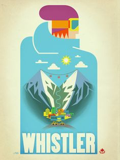 "Vintage Whistler ""Blue Bird"" Travel Poster by James Tuer"