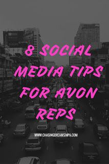 Chasing Dreams in PA: 8 Social Media Tips for Avon Reps Avon Party Ideas, Avon Ideas, Avon Sales, Avon Online, Avon Representative, Social Media Tips, Chasing Dreams, Perfume Bottle, Just In Case
