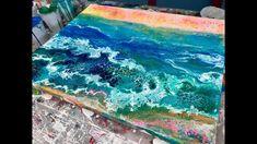 Acrylic Pour Painting: Silent Oceanscape