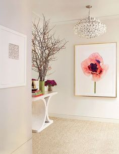Aerin Lauder's Glamorous Manhattan Offices of her new venture, AERIN. The offices were designed by Jacques Grange. The entrance hall features a Paul Lange work. Via Architectural Digest. Architectural Digest, Interior Exterior, Home Interior, Interior Design, Interior Decorating, Modern Interior, Decorating Ideas, Home Design, Design Design