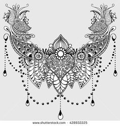stock-vector-template-for-tattoo-design-with-mehndi-elements-floral-ornament-islam-arabic-indian-ottoman-428932225.jpg (450×470)