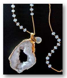Cimber Great White Necklace - A gorgeous druzy piece of jewelry, a great accessory to any outfit! #wildebelleboutique
