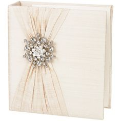 Ivory Silk with Snowflake Brooch Photo Album from @Layla Grayce #laylagrayce #wedding #album