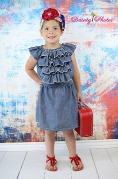 Ophelia's Flutter Sleeve Ruffled Dress PDF by CreateKidsCouture, $8.00