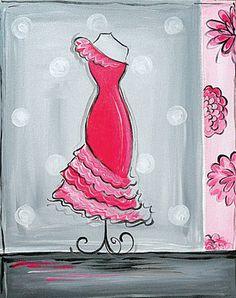 Dress canvas painting