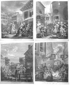 Michael Finney Antique Prints - William Hogarth - Four Times of the Day William Hogarth, Seasons Of The Year, Antique Prints, Times, Day, Painting, Image, Prompts, Link