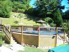 decks and patios around above ground pool pictures | ... out pool, Above ground pool with wrap around deck., Pools Design