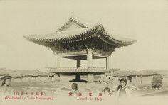 Aeryon Hall, Pyongyang, c1910  일제강점시기 사진엽서 - 평양 애련당(愛蓮堂)