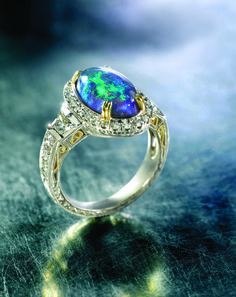 Opal Engagement Ring...I would literally faint if I got this as an engagement ring O.o