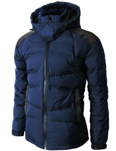Amazon.com: H2H Mens Down Outwear Hood Parka Double Closer High Neck With Two Pocket: Clothing | $119