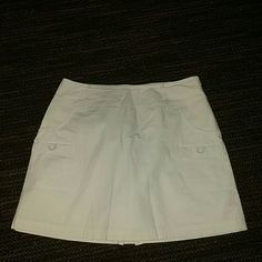 "Khaki ""skort"" Khaki skirt with shorts stitched in. 100% cotton. No tags but Brand new and never been worn. St. John's Bay Skirts"