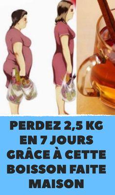 Perdez 2,5 kg en 7 jours grâce à cette boisson faite maison
