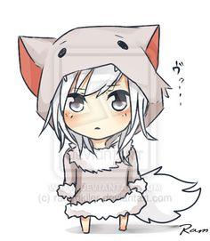Minecraft chibi wolf by rammkiler.deviantart.com on @deviantART