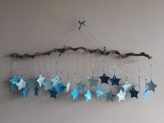 Shower Bebe, Baby Boy Shower, Baby Shower Gifts, Mobiles, Hanging Stars, Baby On The Way, Silhouette Cameo Projects, Design Crafts, Diy Crafts For Kids
