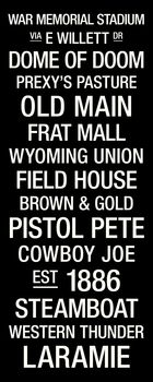 Wyoming: College Town Wall Art Picture at Wyoming Cowboy Photos