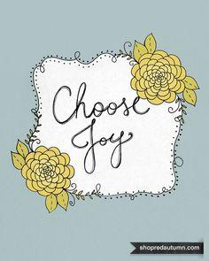 Download, print, enjoy. | #shopredautumn Choose Joy in Blue