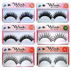 Fashion Lashes - 100 Pairs Long, Dramatic Blunt Cut False Eyelashes