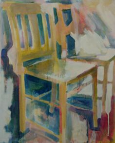 Chairs oil on canvas 40x51cm