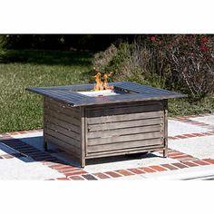 Paramount® Driftwoood Design Cast-aluminum Propane Fire Table