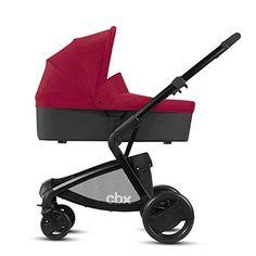Ab Geburt bis 15 kg Crunchy Red Inkl Regenverdeck cbx 2-in-1 Kombikinderwagen Bimisi Flex mit wendbarem Komfortsitz//Kinderwagenaufsatz