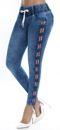 Jeans levanta cola WOW 86356 Urban Fashion Trends, Urban Fashion Women, Womens Fashion For Work, Cute Swag Outfits, Classy Outfits, Mama Shirt, Denim Pants, Jeans Style, Everyday Fashion