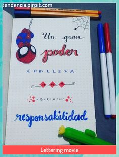 Lettering movie #Lettering #movie #regalos para novios Bullet Journal 2019, Bullet Journal Ideas Pages, Batman Poster, Bujo Doodles, Cute Cartoon Pictures, Bullet Journal Aesthetic, Dad Day, Notebook Covers, N21