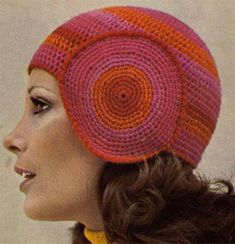 1970s 4 BOHO HATS & SCARF Vintage Crochet Pattern, Retro Cloche, Beanies, Brimmed Hat, Woven Scarf, Instant Pdf from GrannyTakesATrip 0089