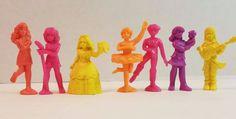 Vtg 80s Mattel C.U.T.I.E. Cutie Miniature Figure Doll Toy Lot PVC Dance Rockers #Mattel #Dolls