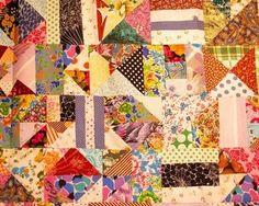 How to Make a Rag Quilt-Ma made lots of these from old clothes