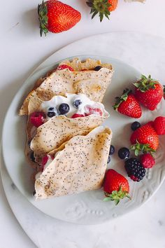 Poppyseed crepes - ready in 5 minutes they are the perfect breakfast for your family