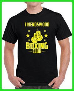 Friendswood Boxing Club Fightclub Gym Custom USa City Athletics Unisex T-shirt M Black - Workout shirts (*Amazon Partner-Link)