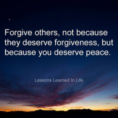 Forgive Others..
