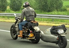 Pull Behind Motorcycle Trailers