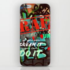 Blue teal crimson red fancy graffiti typography print phone case