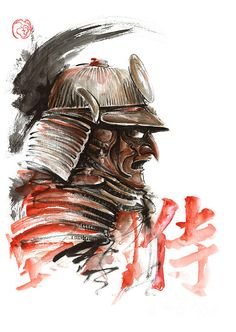 Japanese armor - samurai warrior. #samuraiart #japanesepainting #samuraiarmor
