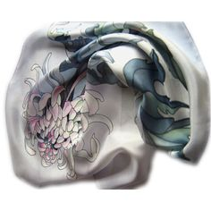 Chrysanthemum silk scarf