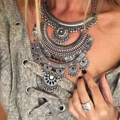 Gypsy Statement Necklace #ootd #fashionista #picoftheday -  28,90 € @happinessboutique.com
