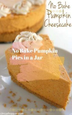 Everything about this pie is no-bake, including the homemade graham cracker crust. You will have to make sure the crust and the filling set before digging in. Can't wait? That's what the bowl is for. […]   #nobakepumpkinpie #nobakepumpkinpiecheesecake #nobakepumpkinpieoatmealcookies #nobakepumpkinpiebites #nobakepumpkinpieinabag #nobakepumpkinpieinajar No Bake Pumpkin Cheesecake, No Bake Pumpkin Pie, Baked Pumpkin, Homemade Graham Cracker Crust, Oatmeal Cookies, Pudding, Jar, Baking, Desserts