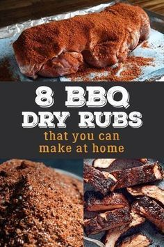 Looking for a great dry rub for your next barbecue? Whether you're cooking pulle… Looking for a great dry rub for your next barbecue? Whether you're cooking pulled pork, smoked chicken or beef brisket you'll find a delicious rub recipe. Rub For Pork Ribs, Pork Dry Rubs, Bbq Dry Rub, Meat Rubs, Pulled Pork Dry Rub, Dry Rub For Brisket, Dry Rub Ribs, Smoked Pulled Pork, Pulled Pork Marinade