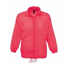 "New Trending Outerwear: SOLS Unisex Surf Windbreaker Lightweight Jacket (XXL (45-47"" Chest)) (Neon Coral). SOLS Unisex Surf Windbreaker Lightweight Jacket (XXL (45-47"" Chest)) (Neon Coral)   Special Offer: $13.43      222 Reviews Water resistant and windproof. Unlined. Concealed hood with drawcord. Full length self color zip. Underarm ventilation eyelets. Two front zip pockets. Elasticated..."